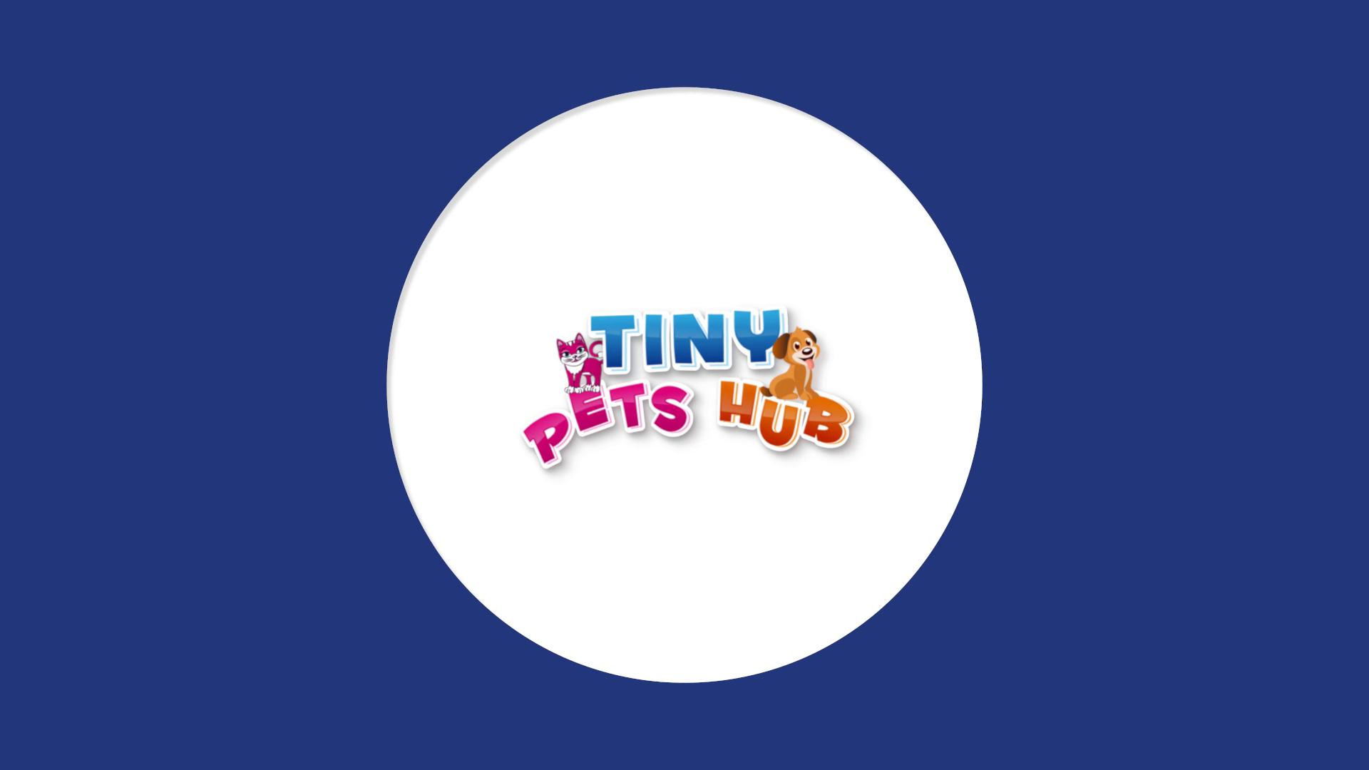 Bouncy Flat Logo Reveal for Tiny Pets Hub