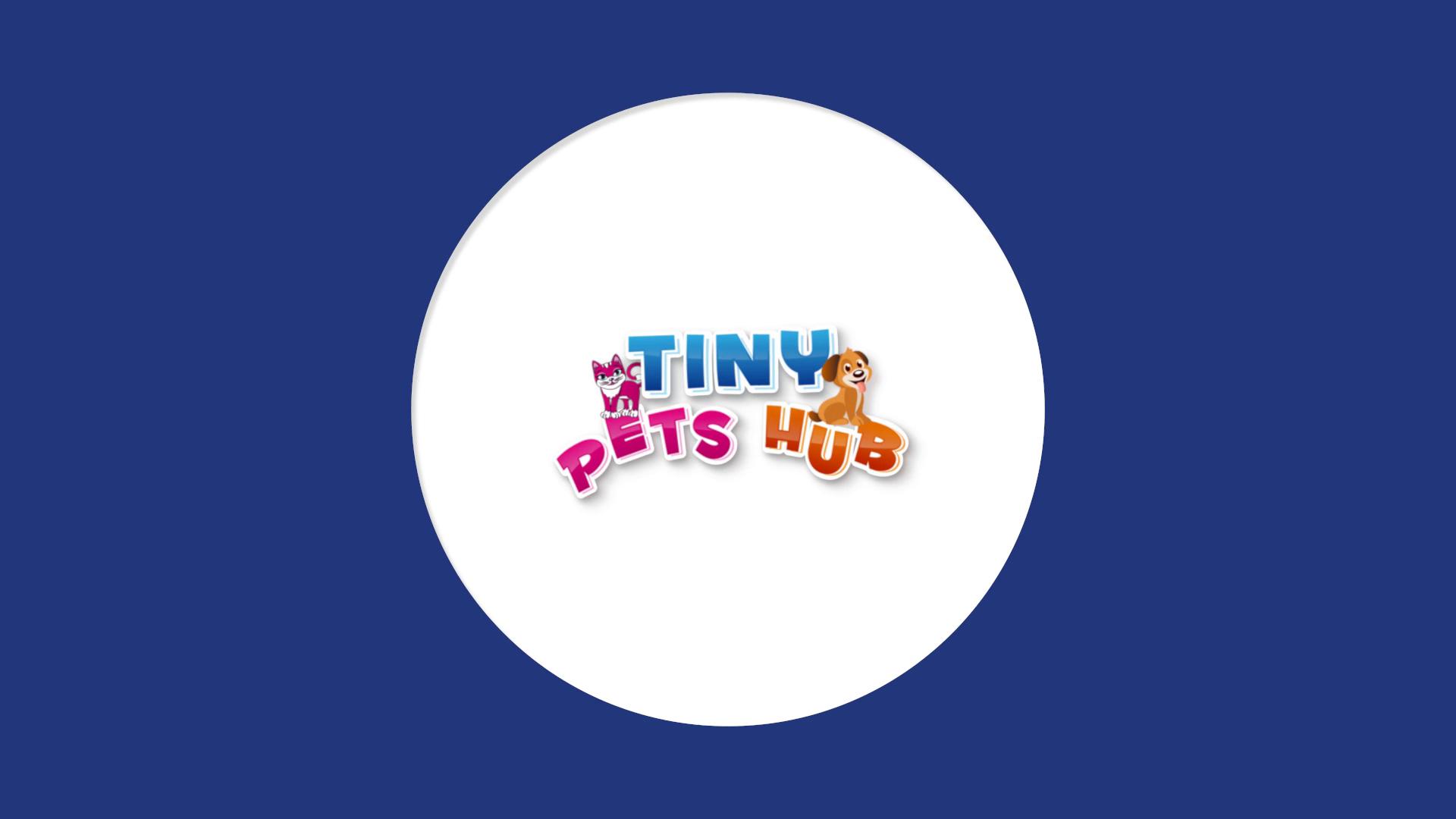 Bouncy Flat Logo Reveal for Tiny Pets Hub